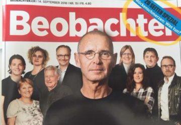 Zeitschrift Beobachter: Bewegung im Büro